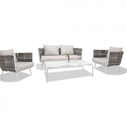 High End Patio Miwwelen China Ubidder Gaart Rope Lescht Sofa Design Set