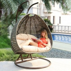 Patio Garden Cottage Courtyard Beach Patio Outdoor Casual Swing Chair Hanging Egg