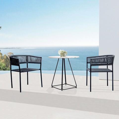 Muebles de jardín de cuerda al aire libre Imágenes y fotos de silla de cuerda de nuevo estilo