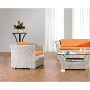 Outdoor Rattan Mèb Jaden Cheap Cane Wicker an bwa Sofa Set